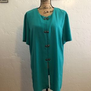 Pride & Joy, green, size 18 blouse